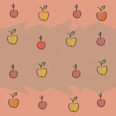 Seamless with the image of fruit  apples, cherries, plums  Vector