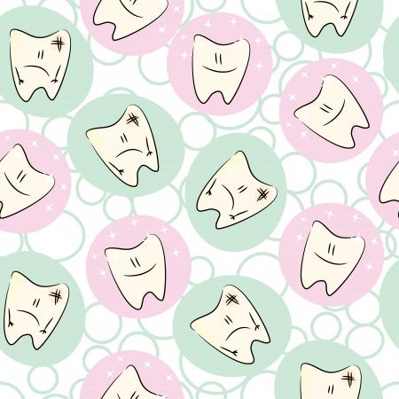 dientes sucios: Incons�til del beb� con los dientes limpios y sucios