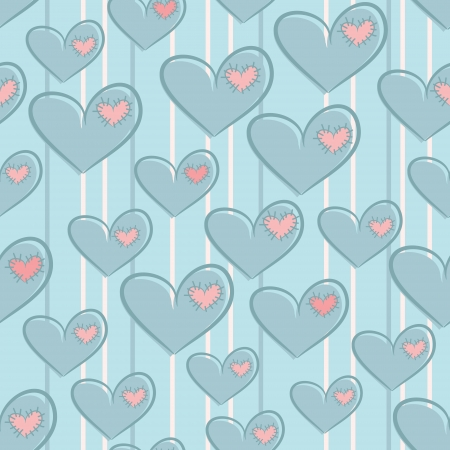 Seamless Valentine s Day pattern with hearts Illustration