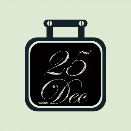 Christmas calendar blackboard icon, element for design  Stock Vector - 24333900