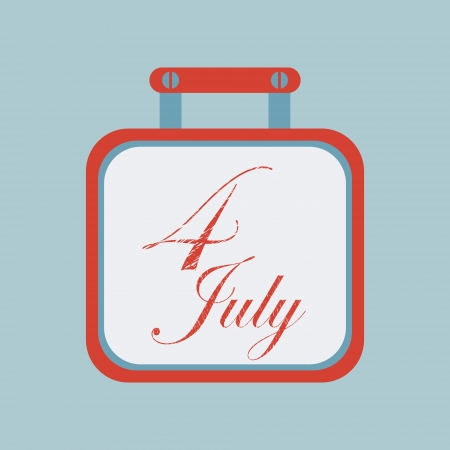 Fourth of July calendar icon, element for design  Stock Vector - 24333901