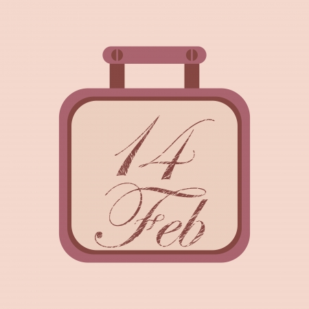 Valentine s day calendar icon Stock Vector - 24333906