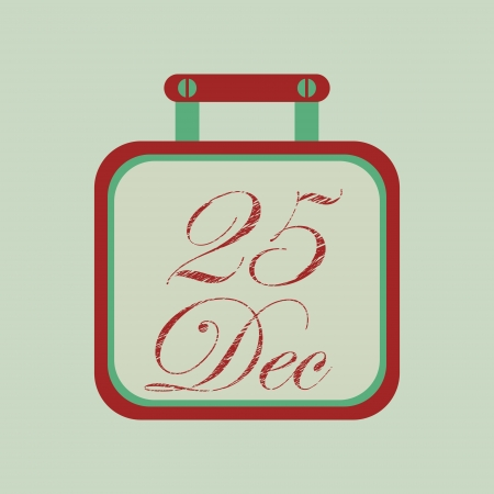 Christmas day calendar icon, element for design  Vector