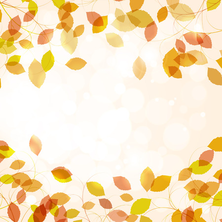 Autumn background with leaves. Back to school and seasons theme.