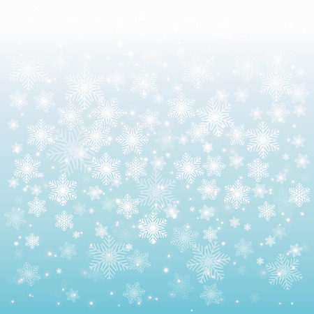 Abstract shiny Christmas background with snowflakes and place for text