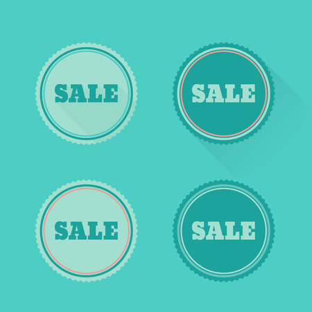 Vector set of sale badges, stickers, labels in flat design