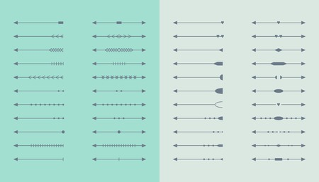 Vector set of arrows. Isolated elements for web and apps design Illustration