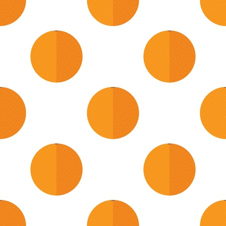 Seamless background with oranges on a white background.
