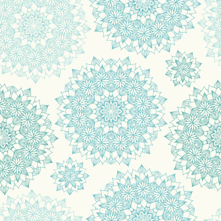 blue floral: Seamless background with abstract round blue floral pattern. Vector illustration Illustration