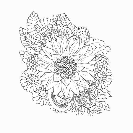 Zonnebloem op een witte achtergrond.