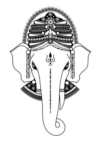 Ganesha, O Ganapati, Deidad India En El Hindú, Removedor De ...