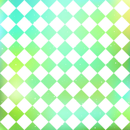 Checkered pattern on a blur green background. Vector illustration. Illustration