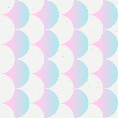 Fish scale abstract tender seamless pattern in pink and white color. Japanese motif. Vector backgrounds for fabric, wallpaper and wrap.