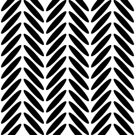 Classic herringbone black and white pattern. Ilustrace