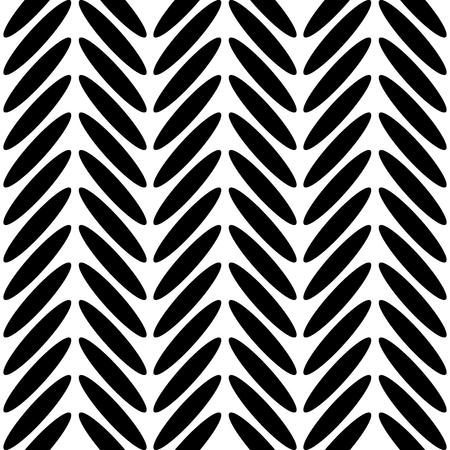 Classic herringbone black and white pattern. Illustration