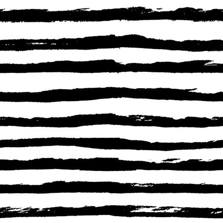 Modèle avec des lignes de rayures horizontales dessinées à la main d'encre noire grunge.
