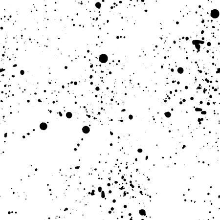 Abstract pattern with black ink splashes illustration.