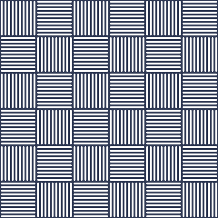 Wicker dark blue and white, Abstract geometric tile pattern.