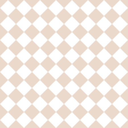 Abstract simple tile rhombus pattern. Almond or tender pastel light brown and white colors.