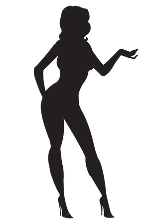 Silhouette of Sexy Girl Vector