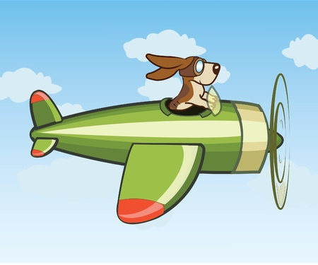 Dog Flying Plane