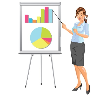 Businesswoman Giving Presentation in Business Meeting Stock Vector - 13387619