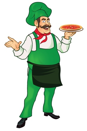 Pizza Man Stock Vector - 15327918