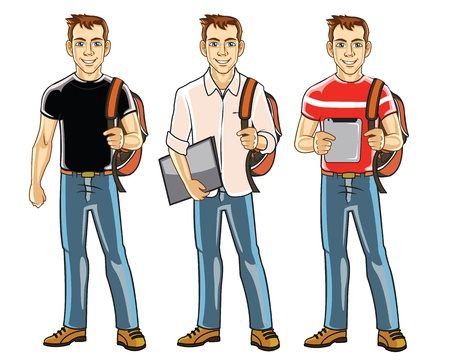 student boy: Bel Giovane College Boy Student