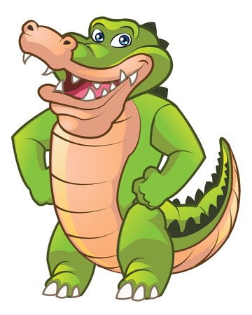 Friendly Crocodile Mascot