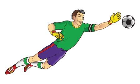 Goal Keeper Ga naar de bal te vangen