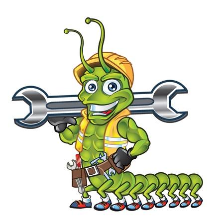 centipede: Centipede Construcrion Worker Mascot