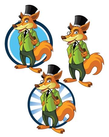 Confident Fox Mascot for business Logo Vector