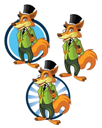 Confident Fox Mascot for business Logo