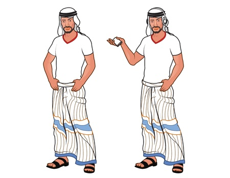 arab man: Handsome Arab Young Man