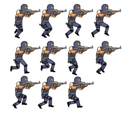 sprite: SWAT corriendo sprite de animaci�n