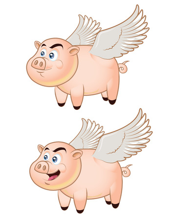 Flying Pig Stock Vector - 23282037