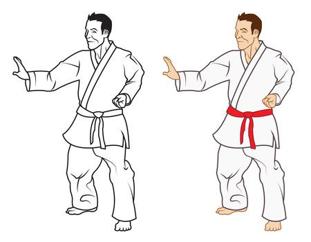 defensa personal: Karate Vectores