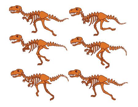 t rex: T Rex Bones Running Sequence