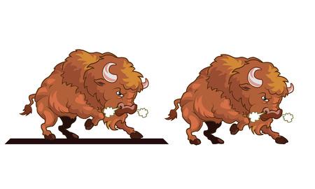 toro arrabbiato: Angry Bull Mascot