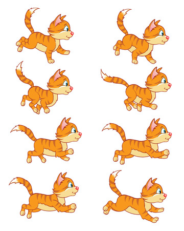 Running Cat Animation Sprite