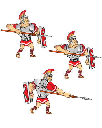 Roman Soldier Attack Animation Sprite