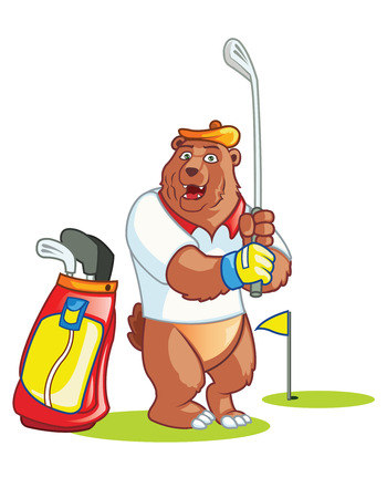 Bear Golf Cartoon