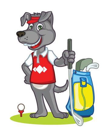 dog costume: Golf Dog cartoon