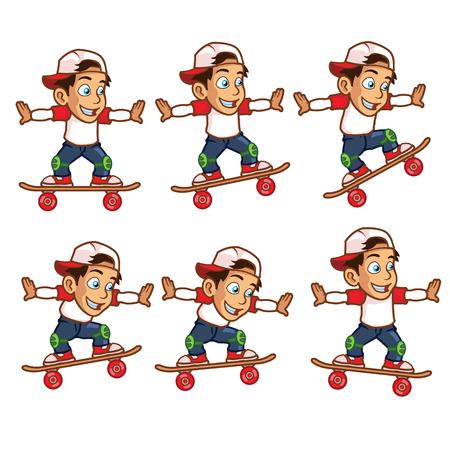 Skater Boy Jumping High Animation Sprite