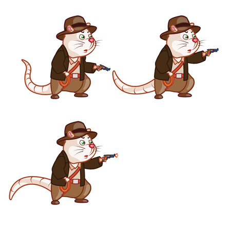 sprite: Adventurer Rat Shooting Pistol Sprite