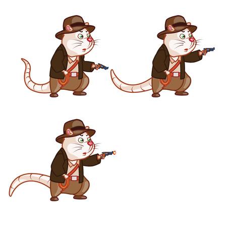 sprite: Aventurero Rata tiro con pistola Sprite