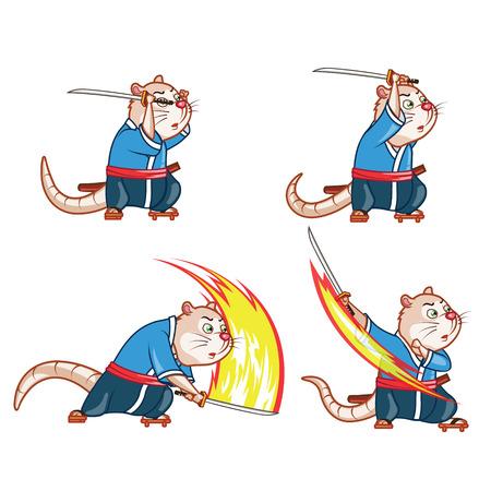 sprite: Samurai Mouse Attack Sprite