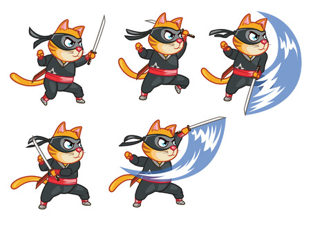 warriors: Cat Ninja Attacking Sprite