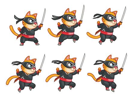 Cat Ninja Jumping