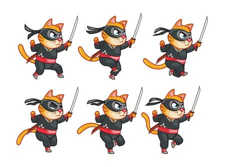 sprite: Cat Ninja Running Sprite